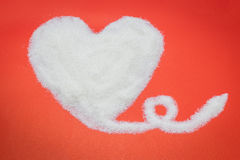 Heart from sugar Stock Images