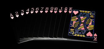 Heart Suit  Playing Cards Royalty Free Stock Images