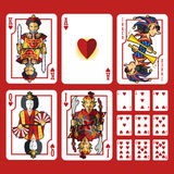 Heart Suit Playing Cards Full Set Stock Image