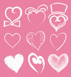 Heart suite. Set of abstract heart shapes Royalty Free Stock Image