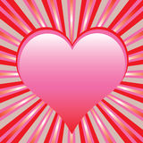 Heart with sunburst Royalty Free Stock Photography