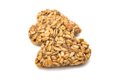 Heart of sunflower seeds Royalty Free Stock Photos