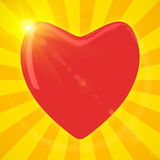 Heart in sunlight Stock Photo