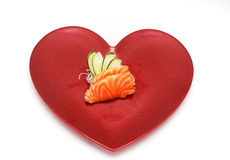 Heart sushi Stock Images