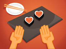 Heart sushi for you Royalty Free Stock Image