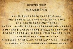 The Heart Sutra (Chinese). The Heart Sutra in Chinese version Royalty Free Stock Photography