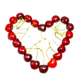 Heart from a sweet cherry Royalty Free Stock Photo