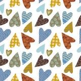 Heart sweet love day pattern Stock Photos