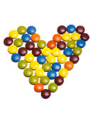 Heart from sweets Stock Image