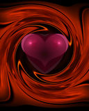 Heart Swirl. Colorful abstract graphic design showing a heart in passionate reds Stock Photography