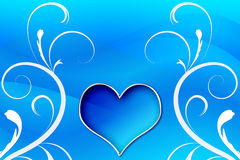Heart Swirls Royalty Free Stock Photography