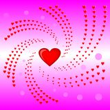 Heart swirls ,valentine ,pink background vector illustration Stock Photo