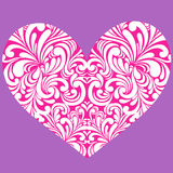 Heart and Swirls Vector Stock Image