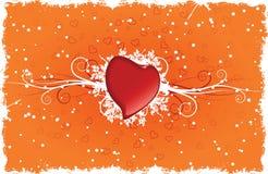 Heart with swirls. Vector illustration Stock Photo