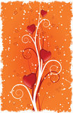 Heart with swirls. Vector illustration Stock Photography