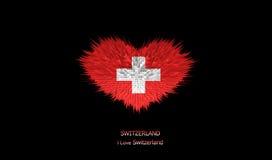 The Heart of Switzerland Flag. Stock Photos