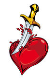 Heart with sword Royalty Free Stock Photos