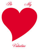 Heart symbol. And text on white background Royalty Free Stock Photos