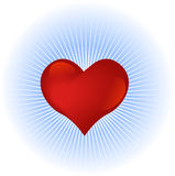 Heart symbol. Shiny heart symbol with sky background Royalty Free Stock Photography
