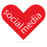 Heart symbol as social media concept Royalty Free Stock Photo