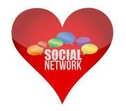 Heart symbol as social media concept Stock Image
