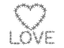 Free Heart Symbol Barb Wire Sketch Engraving Vector Royalty Free Stock Photos - 162494228