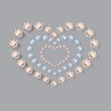 Heart symbol of brilliant diamonds Stock Images