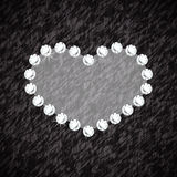 Heart symbol of brilliant diamonds Royalty Free Stock Photos