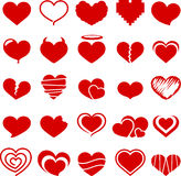 Heart symbol collection Royalty Free Stock Image