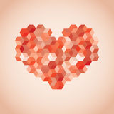 Heart symbol created from cubes Royalty Free Stock Image