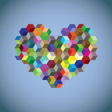 Heart symbol created from cubes Royalty Free Stock Photography