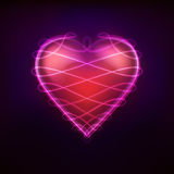 Heart symbol decorated with shiny lace line graphic art design Stock Image