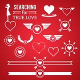 Heart symbol design elements Royalty Free Stock Image
