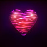 Heart symbol designed at modern shiny lines style Royalty Free Stock Photos