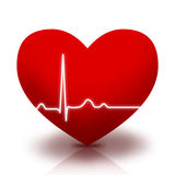 Heart symbol with EKG Royalty Free Stock Photography