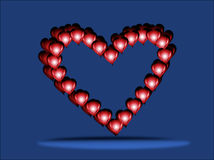 Heart.1. Symbol of a festival of love - heart. Abstract horizontal  illustration Stock Photo
