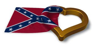Heart and flag of the Confederate States of America Royalty Free Stock Photography
