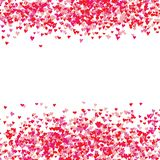 Heart symbol hand drawn sketch doodle background. Saint Valentine`s Day or women`s day frame border background vector illustrati Royalty Free Stock Images
