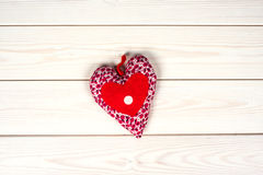Heart symbol hand made. On a wooden background Stock Photography