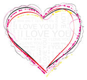 Heart symbol of love Royalty Free Stock Image