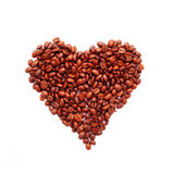 Heart symbol made from coffee Stock Photo