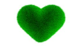 Heart symbol made of grass Royalty Free Stock Photography