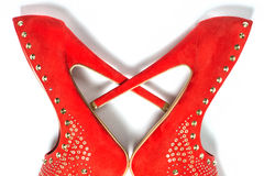 Heart symbol made from high heels shoes Royalty Free Stock Photos