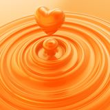 Heart symbol made of liquid cream or soap Royalty Free Stock Photo