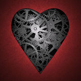 Heart symbol made out of cogs Royalty Free Stock Images