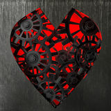 Heart symbol made out of cogs and gears Royalty Free Stock Image