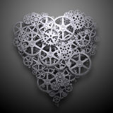 Heart symbol mechanism Royalty Free Stock Images