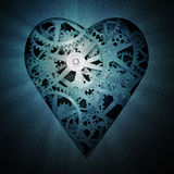 Heart symbol mechanism Royalty Free Stock Photo