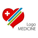 Heart symbol. Medical beautiful logo Royalty Free Stock Photography