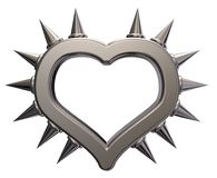 Heart symbol with prickles. 3d rendering Royalty Free Stock Photography